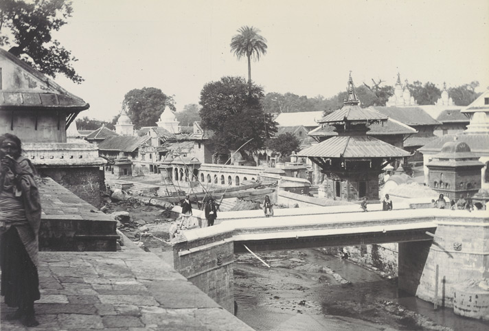 Bridge over the Bhagiratti [Bagmati] at Pashpatti